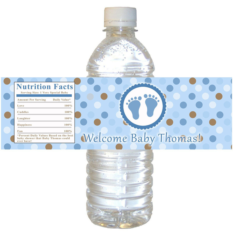 CCPES085 özelleştirilmiş plastik su şişesi etiketi