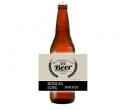 CCBL020 beer bottle label