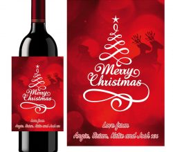CCWLC100 electroluminescent wine bottle label