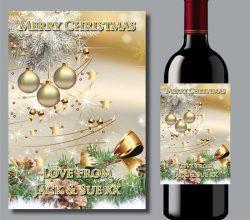 CCWLC100 electroluminescent wine bottle label