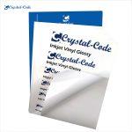 Blank printable waterproof glossy film inkjet vinyl sticker paper