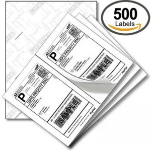 CCUSS050 8.5 x 11 US standard express shipping labels