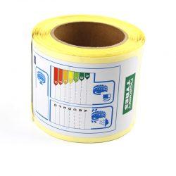 Vinyl materials label